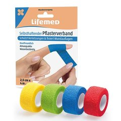 Lifemed Selbsthaftender Pflasterverband 4 m x 2,5 cm...