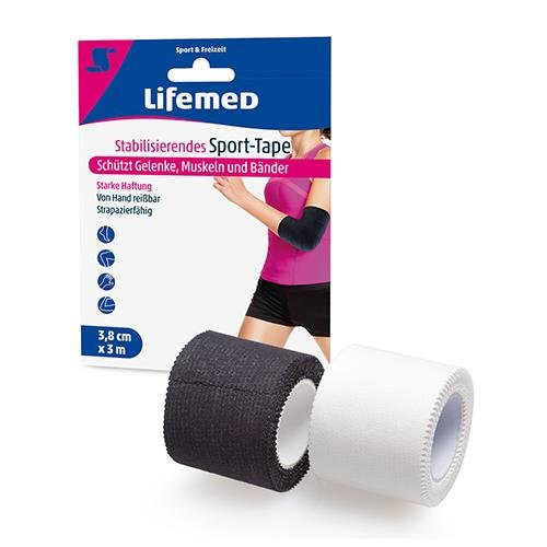 Lifemed Stabilisierendes Sport-Tape 3 m x 3,8 cm farbig sortiert