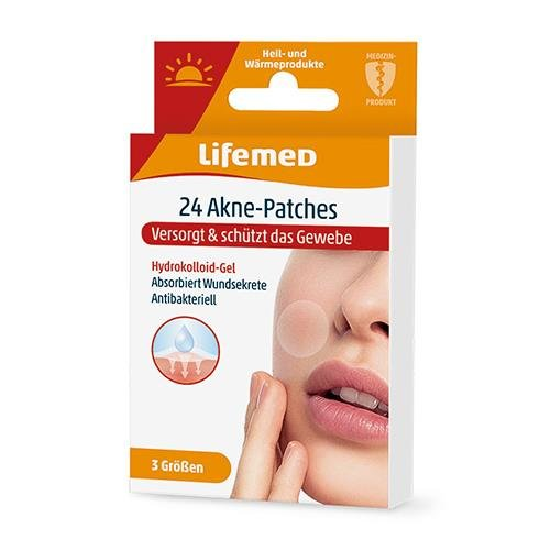 24 Lifemed Akne-Patches transparent 3 Größen